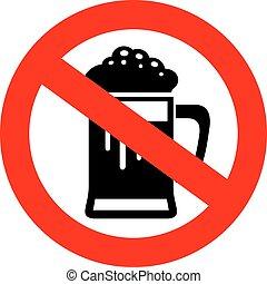 niet, bier, drank, meldingsbord