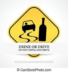 niet, drank, besturen, meldingsbord
