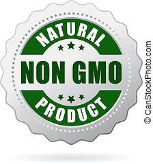 niet, gmo, product, pictogram