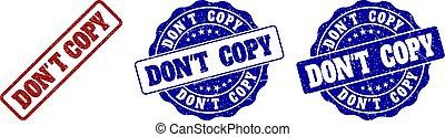 niet, kopie, grunge, postzegel, zegels