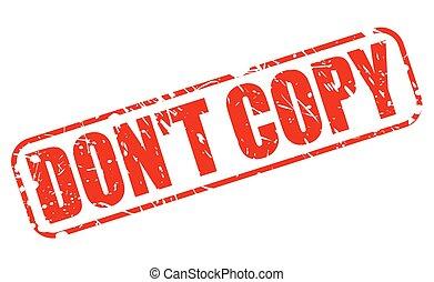 niet, kopie, rood, postzegel, tekst