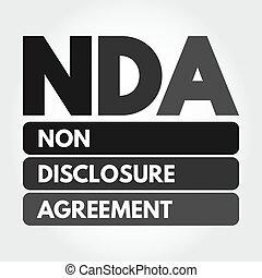 niet-onthulling, acroniem, -, overeenkomst, nda