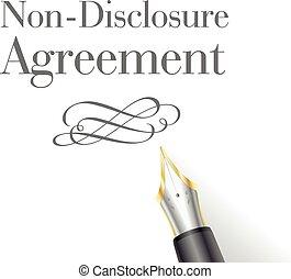 niet-onthulling, overeenkomst