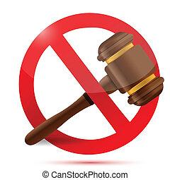 niet, wet, ontwerp, illustratie, meldingsbord