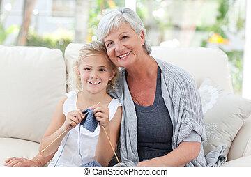 nieta, ella, 3º edad