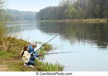 nieta, pesca, aduelo