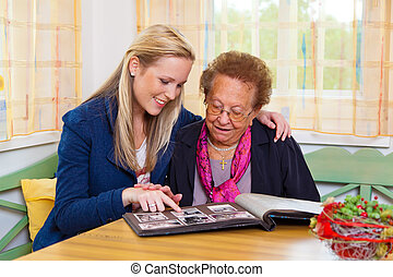 nieto, visitas, abuela