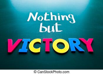 niets, maar, overwinning