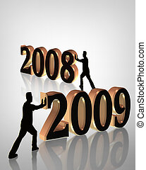 nieuw, 2009, jaar, 3d