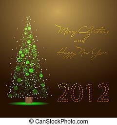 nieuw, 2012, kerstmis, vrolijk, jaar