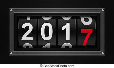 nieuw, 2017, toonbank, jaar