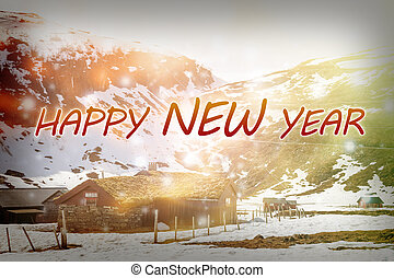 nieuw, 2017, vrolijke , achtergrond., jaar