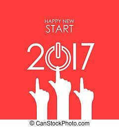 nieuw, 2017, vrolijke , jaar