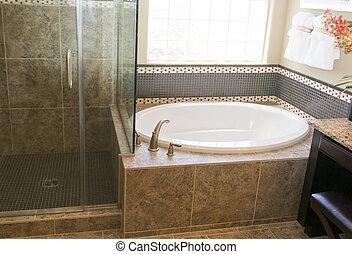 nieuw, badkamer, moderne