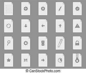nieuw, bestand, set, iconen