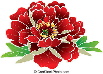 nieuw, bloem, chinees, jaar