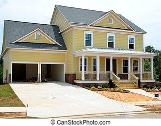 nieuw, bouwsector, thuis