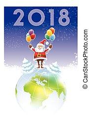 nieuw, claus, 2018, kerstman, jaar