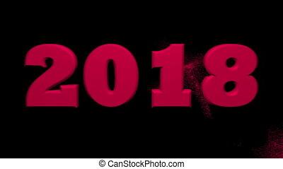 nieuw, concept, achtergrond, jaar