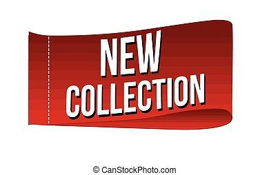 nieuw, etiket, verzameling, kleding