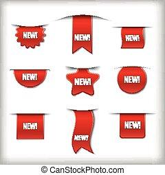 nieuw, etiketten