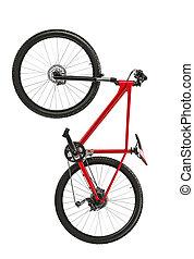 nieuw, fiets, vrijstaand, op, een, witte achtergrond