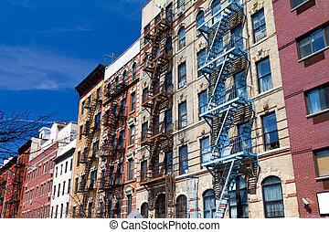nieuw, gebouwen, york, stad
