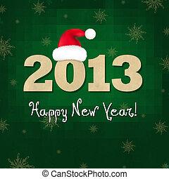 nieuw, hoedje, samenstelling, kerstman, jaren