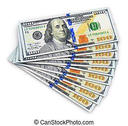 nieuw, honderd, ons dollar, bankpapier