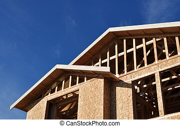 nieuw huis, in aanbouw