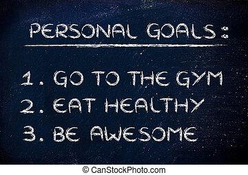 nieuw jaar, fitness, resolutions:, gym