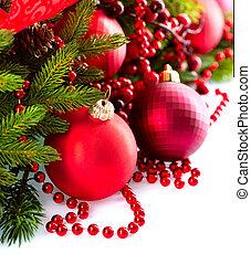 nieuw, kerst baubles, decoraties, jaar