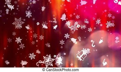 nieuw, kerstmis, achtergrond, jaar