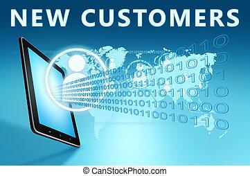 nieuw, klanten