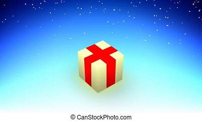 nieuw, kubus, vrolijke , jaar