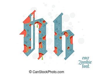 nieuw, lettertype, gotisch