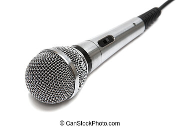 nieuw, microfoon, metaal