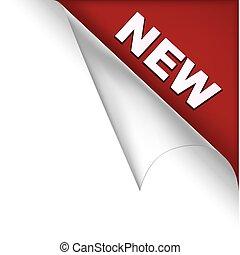 nieuw, pagina, hoek