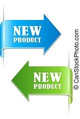 nieuw product, etiketten