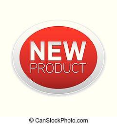 nieuw product, knoop, rood