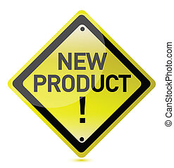 nieuw product, meldingsbord