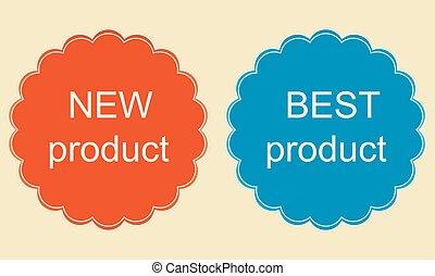 nieuw product, sticker, best