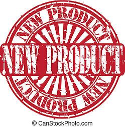 nieuw product, vector, grunge, postzegel