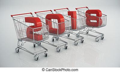 nieuw, shoppen , 2018, jaar