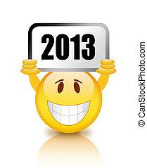 nieuw, smiley, jaar