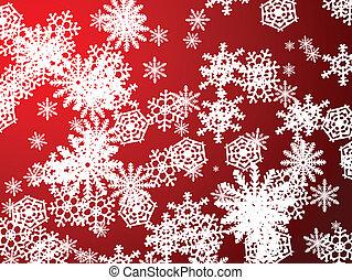 nieuw, sneeuwvlok, rood