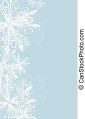 nieuw, snowflakes, achtergrond, jaar