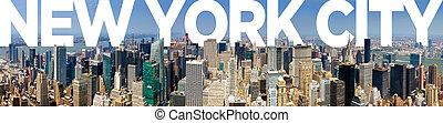 nieuw, stad, york, panoramisch