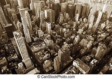 nieuw, stad, york