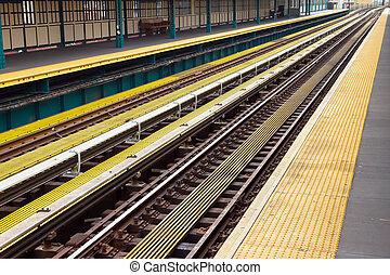 nieuw, stations, york, metro, stad